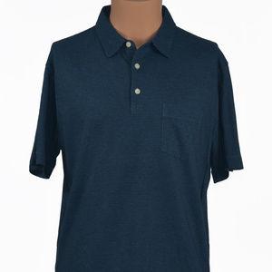 Patagonia Sz M Striped S/S Half Button Polo Shirt